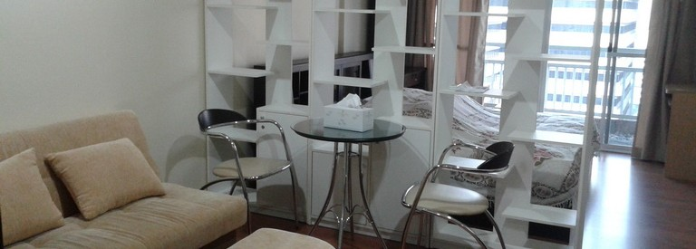for rent/เช่า Studio Grand Parkview Asoke แกรนด์พาร์ควิว อโศก 35sqm fullyfurnished 18,000/month – Nice Balcony